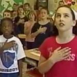 Kids say pledge of allegiance