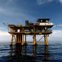 square-oil-well-platform