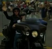 Palin on bike