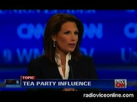 Bachmann NH debate tea party
