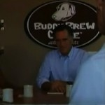 Romney at coffee shop