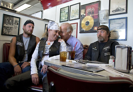Caption This  Biden and the bikers