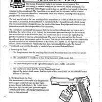 2nd amendment worksheet. Black Bedroom Furniture Sets. Home Design Ideas